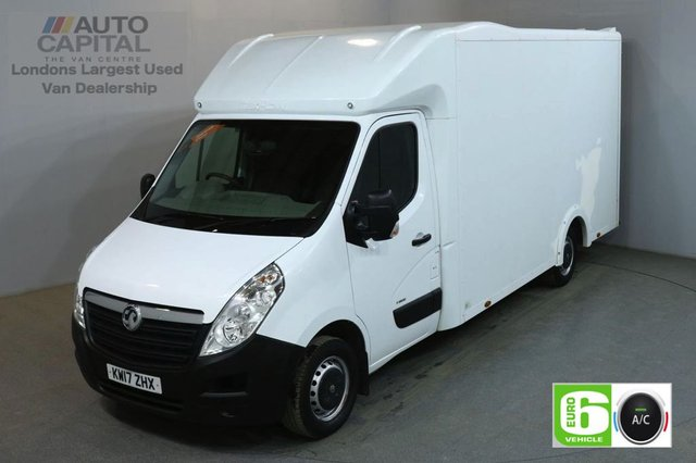 2017 17 VAUXHALL MOVANO 2.3 L3H1 F3500 129 BHP LWB EURO 6 AIR CON LOW LOADER VAN REAR BED LENGTH 13 FOOT & 2 IN