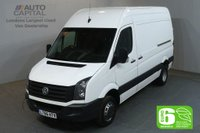 USED 2016 66 VOLKSWAGEN CRAFTER 2.0 CR50 TDI 113 BHP MWB H/ROOF TWIN WHEEL 5000KG EURO 6 START STOP EURO 6 SPARE KEY