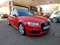 USED 2014 14 AUDI A3 2.0 TDI S LINE 5d 148 BHP PAN ROOF,HEATED SEATS,BLUETOOTH,CRUISE CONTROL,XENON HEADLAMPS