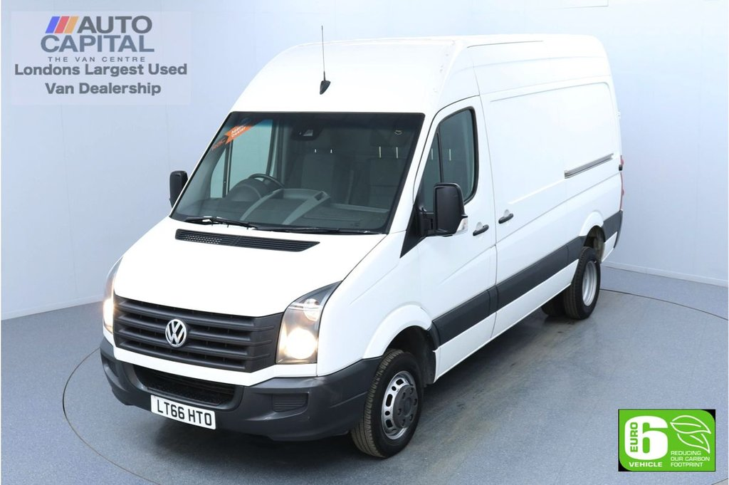 USED 2016 66 VOLKSWAGEN CRAFTER 2.0 CR50 BlueMotion 115 BHP MWB Euro 6 Low Emission Digital Tachograph | Start/stop | Twin rear wheels | Overhead storage