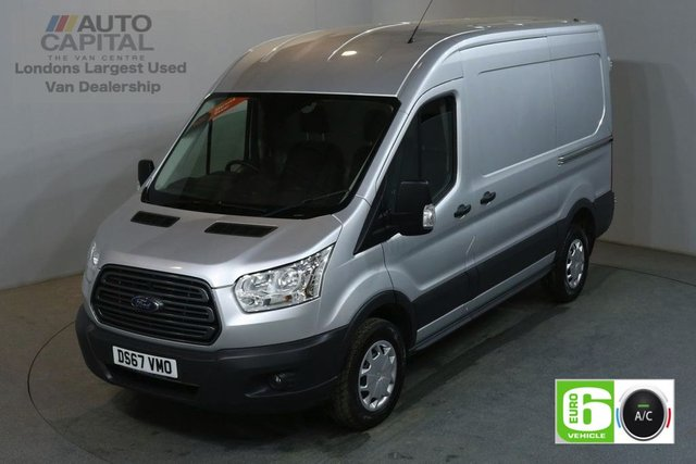 2017 67 FORD TRANSIT 2.0 350 L2 H2 130 BHP TREND AIR CON MWB M/ROOF EURO 6 AIR CONDITIONING EURO 6
