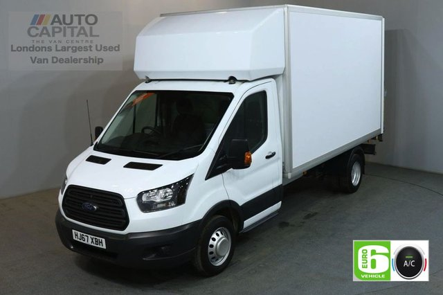 2017 67 FORD TRANSIT 2.0 350 129 BHP LWB EURO 6 AIR CON TWIN WHEEL WITH TAIL LIFT LUTON REAR BED LENGTH 12 FOOT & 3 INCH
