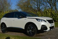 USED 2018 67 PEUGEOT 3008 1.2 PURETECH S/S GT LINE 5d 130 BHP 1 OWNER FPSH SAT NAV LEATHER PARK AIDS XENONS DAB PHONE CHARGING PLATE CAMERA