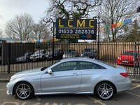 """USED 2013 63 MERCEDES-BENZ E-CLASS 2.1 E250 CDI AMG SPORT 2d AUTO 204 BHP STUNNING SILVER METALLIC WITH FULL BLACK LEATHER UPHOLSTERY. ONLY TWO OWNERS FROM NEW. 18"""" ALLOYS WHEELS. FULL COLOUR SCREEN SATELLITE NAVIGATION. ELECTRIC HEATED SEATS. AIR CONDITIONING. CRUISE CONTROL. ELECTRIC WINDOWS. REMOTE CENTRAL LOCKING. PLEASE GOTO www.lowcostmotorcompany.co.uk TO VIEW OVER 120 CARS IN STOCK, SOME OF THE CHEAPEST ON THE WEB"""