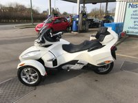 USED 2011 61 CAN-AM SPYDER 1.105 SPYDER RT Limited 5 speed semi auto This is an outstanding example of the ever popular RT Limited Version Spyder. It has all the luggage space you require for 2 people to tour Europe and beyond and is finished in the White paint.