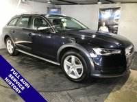 USED 2016 66 AUDI A6 3.0 ALLROAD TDI QUATTRO 5d AUTO 215 BHP Bluetooth  :  Sat Nav  :   DAB Radio   :   Leather upholstery   :   Heated front seats   :   Front + rear parking sensors   :  Full Audi service history