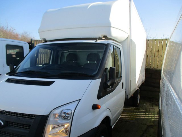 2014 14 FORD TRANSIT 350 LWB 2.2 TDCI DIESEL 125 BHP 350 XLWB LUTON TAIL LIFT WHITE MANUAL