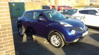 "USED 2015 64 NISSAN JUKE 1.5 ACENTA DCI 5d 110 BHP £20 A YEAR ROAD TAX! HIGH SPEC MODEL WITH PRIVACY GLASS, AIR CON, BLUETOOTH AND 17"" ALLOY WHEELS"
