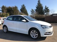 USED 2015 15 VOLKSWAGEN POLO 1.2 SE TSI 3d WITH TOUCH SCREEN MEDIA, AIR CON, ALLOYS NO DEPOSIT  FINANCE ARRANGED, APPLY HERE NOW