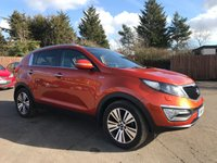 USED 2014 14 KIA SPORTAGE 2.0 CRDI KX-3 5d WITH KIA SERVICE HISTORY AND WARRANTY NO DEPOSIT  FINANCE ARRANGED, APPLY HERE NOW