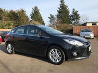 2012 FORD FOCUS 1.6 TDCI TITANIUM 5d WITH BLUETOOTH, AIR CON, ALLOYS, FORD SERVICE HISTORY £5500.00