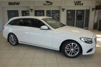 USED 2015 64 MERCEDES-BENZ C CLASS 2.1 C220 BLUETEC SPORT 5d AUTO 170 BHP FINISHED IN STUNNING POLAR WHITE WITH FULL BLACK LEATHER SEATS + 1 OWNER FROM NEW MERCEDES BENZ SERVICE HISTORY + COMAND FULL SCREEN SAT NAV WITH BLUETOOTH AUDIO + £30 ROAD TAX + DAB RADIO + REAR PARKING SENSORS...