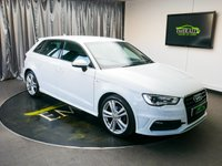 USED 2014 64 AUDI A3 1.4 TFSI S LINE 5d 148 BHP £0 DEPOSIT FINANCE AVAILABLE, AIR CONDITIONING, AUDI DRIVE SELECT, BLUETOOTH CONNECTIVITY, CLIMATE CONTROL, DAB RADIO, DAYTIME RUNNING LIGHTS, ELECTRONIC PARKING BRAKE, FULL S LINE LEATHER UPHOLSTERY, HEATED DOOR MIRRORS, START/STOP SYSTEM, STEERING WHEEL CONTROLS, TRIP COMPUTER, VOICE ACTIVATED CONTROLS