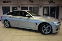 USED 2016 66 BMW 4 SERIES GRAN COUPE 2.0 420D M SPORT 4d (Professional media) AUTO 188 BHP FINISHED IN STUNNING GLACIER SILVER WITH FULL BLACK LEATHER SEATS + 1 OWNER FULL BMW SERVICE HISTORY + PRO SATELLITE NAVIGATION WITH PROFESSIONAL MEDIA INCLUDING BLUETOOTH AUDIO + SPORT AUTOMATIC WITH PADDLESHIFT GEARS + DAB RADIO + XENON HEADLIGHTS + HEATED FRONT SEATS + BLUETOOTH + 18 INCH ALLOYS + AUTOMATIC CLIMATE CONTROLLED AIR CONDITIONING + CRUISE CONTROL...