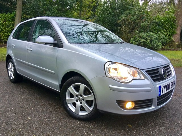 2008 08 VOLKSWAGEN POLO 1.2 MATCH 5d 68 BHP AIRCON/ ALLOYS /X4 AIRBAGS / REMOTE CENTRAL LOCKING