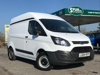 USED 2015 64 FORD TRANSIT CUSTOM 2.2 290 LR P/V 1d 100 BHP Rare High Roof Van, Smart Example, One Owner, Finance Arranged.
