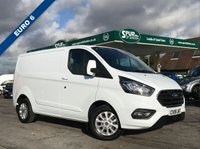 USED 2018 18 FORD TRANSIT CUSTOM 2.0 300 LIMITED P/V L1 H1 1d 130 BHP NEW SHAPE, Top Spec, Air Conditioning, Heated Seats, Wi-Fi, Apple Car Play.