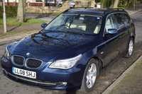 USED 2008 08 BMW 5 SERIES 3.0 525D SE TOURING 5d 195 BHP 1 OWNER, SERVICE HISTORY, SPORTS LEATHER, REAR PRIVACY GLASS, 6 SPEED MANUAL, iDRIVE