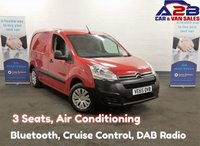 USED 2016 65 CITROEN BERLINGO 1.6 HDi ENTERPRISE, 3 Seats, Air Conditioning, Bluetooth, Cruise Control, Rear Parking Sensors **Drive Away Today** Over The Phone Low Rate Finance Available, Just Call us on 01709 866668**