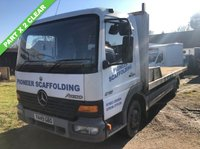 USED 2001 Y MERCEDES-BENZ ATEGO 4.3 815 7.5TONNE 20FT FLAT BED TRUCK +NO VAT+PX TO CLEAR+