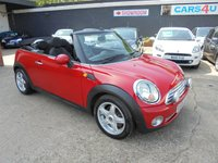USED 2009 MINI CONVERTIBLE 1.6 COOPER 2d 120 BHP