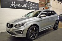 USED 2015 65 VOLVO XC60 2.4 D5 R-DESIGN LUX NAV AWD 5d AUTO 217 BHP STUNNING CONDITION - NAV - LEATHER - GLASS PANROOF - H/SEATS - HEATED STEERING WHEEL - PADDLESHIFT