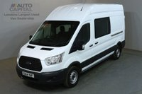 USED 2014 64 FORD TRANSIT 2.2 350 124 BHP LWB 9 SEATER COMBI CREW VAN ONE OWNER FULL S/H SPARE KEY