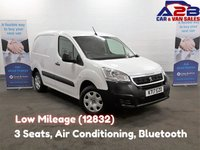 USED 2017 17 PEUGEOT PARTNER 1.6 BLUEHDI PROFESSIONAL, 3 Seats, Low Mileage (12832) Air Conditioning, Bluetooth, Cruise Control, DAB Radio **Drive Away Today** Over The Phone Low Rate Finance Available, Just Call us on 01709 866668**