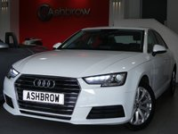 USED 2015 65 AUDI A4 1.4 TFSI SE 4d 150 S/S NEW SHAPE, AUDI SMART PHONE WITH APPLE CAR PLAY & ANDROID AUTO, DAB RADIO, CRUISE CONTROL WITH SPEED LIMITER, LED DAYTIME RUNNING LIGHTS, BLUETOOTH PHONE & MUSIC STREAMING, REAR PARKING SENSORS, MANUAL 6 SPEED GEARBOX, START STOP TECHNOLOGY, 17 INCH 10 SPOKE ALLOYS, GREY CLOTH INTERIOR, LEATHER MULTIFUNCTION STEERING WHEEL, LIGHT & RAIN SENSORS, AUDI DRIVE SELECT, FRONT & REAR ARM RESTS, KEYLESS START, WIFI, AUX INPUT, 2x USB PORTS, CD WITH 2x SD CARD READERS, 1 OWNER FROM NEW, FULL SERVICE HIST