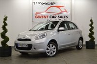 USED 2012 62 NISSAN MICRA 1.2 ACENTA 5d 79 BHP ONLY 41K MILES, ECONOMICAL, SAT NAV, LOW TAX