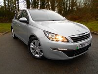 USED 2015 15 PEUGEOT 308 1.6 HDI ACTIVE 5d 92 BHP  ** DIESEL , £ ZERO ROAD TAX, 78 MPG CHEAP MOTORING,  SUPERB VEHICLE **