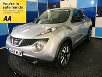 "USED 2013 63 NISSAN JUKE 1.5 DCI N-TEC 5d 109 BHP A stuning example of this poular family diesel crossover finished in unmarked silver metalic complemented with two tone 18""alloy wheels.This car looks and drives superbly coming equiped with satelite navigation,bluetooth phone preparation,cd radio with usb and aux imputs,reversing camera,digital climate control,front and rear fog lights plus all the usual refinements. The car returns a very impressive combined mpg of 67.3 in conjunction with £20 road tax definitely one to concider."
