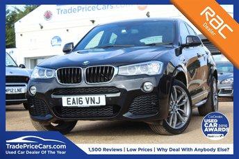 2016 BMW X4 2.0 XDRIVE20D M SPORT 4d AUTO 188 BHP £23950.00