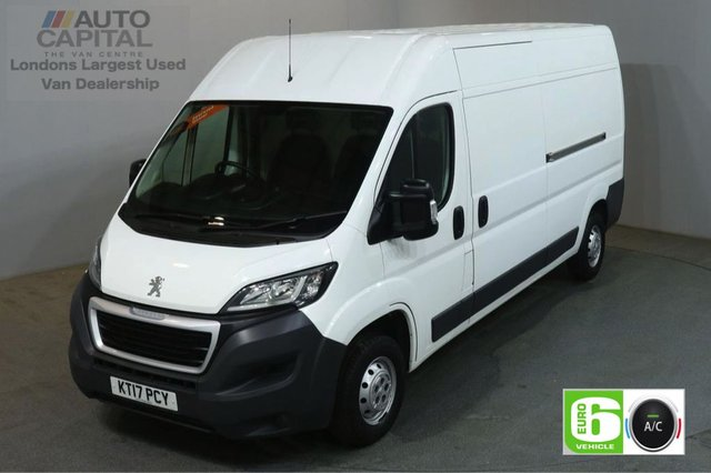 2017 17 PEUGEOT BOXER 2.0 BLUE HDI 335 L3H2 PROFESSIONAL 130 BHP LWB AIR CON EURO 6 SAT NAV BLUETOOTH AND CRUISE