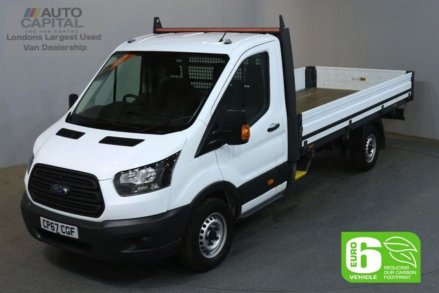 2018 67 FORD TRANSIT 2.0 350 L4 129 BHP EXTRA LWB EURO 6 VAN DROPSIDE LORRY REAR BED LENGTH 13 FOOT &11 IN