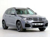 2016 BMW X3 3.0 XDRIVE30D M SPORT 5d AUTO 255 BHP [£6,270 OPTIONS] £27998.00