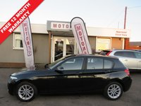 2012 BMW 1 SERIES 1.6 116D EFFICIENTDYNAMICS 5DR HATRCHBACK  DIESEL 114 BHP £7888.00
