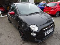 USED 2014 64 FIAT 500 0.9 TWINAIR S (SPORT) 3d 85 BHP Comprehensive Fiat Service History + Serviced by ourselves, MOT until October 2019, Great fuel economy! ZERO Road Tax!