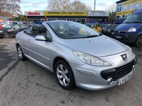2005 PEUGEOT 307 2.0 S COUPE CABRIOLET 2d 139 BHP IN METALLIC SILVER WITH 49000 MILES (TRADE CLEARANCE) £1650.00
