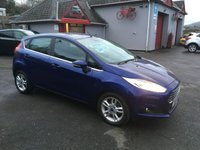 USED 2014 14 FORD FIESTA 1.5 ZETEC TDCI DIESEL, ZERO ROAD TAX, EXCELLENT MPG, BLUETOOTH