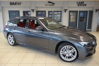 USED 2015 15 BMW 3 SERIES 3.0 335D XDRIVE M SPORT TOURING 5d 309 BHP 4X4 bmw service history FINISHED IN STUNNING MINERAL GREY WITH FULL RED LEATHER SEATS + EXCELLENT BMW SERVICE HISTORY + SATELLITE NAVIGATION + BLUETOOTH + 18 INCH ALLOYS + PARKING SENSORS + DAB RADIO