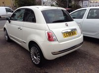 USED 2008 58 FIAT 500 1.4 LOUNGE DUALOGIC 3d AUTO 99 BHP FULL LEATHER TRIM + PAN ROOF + AUTOMATIC