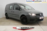 "USED 2015 65 VOLKSWAGEN CADDY MAXI 2.0 C20 TDI KOMBI MAXI COMBI 102 BHP (FACTORY COMBI WITH TAILGATE AND ALLOYS) * PURE GREY * 17"" ALLOYS * READY TO DRIVE AWAY TODAY*"