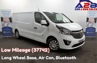 2015 VAUXHALL VIVARO 1.6 CDTI SPORTIVE BI TURBO 120 BHP, Long Wheel Base, Low Mileage (37742) Air Conditioning, Bluetooth, Cruise Control, Rear Parking Sensors £9980.00