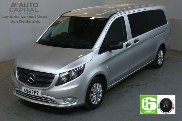 2018 18 MERCEDES-BENZ VITO 2.1 114 BLUETEC TOURER SELECT 136 BHP EXTRA LWB EURO 6 AIR CON 9 SEATER £24,490+VAT EURO 6