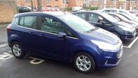 USED 2015 65 FORD B-MAX 1.6 ZETEC 5d AUTO 104 BHP ONLY 4536 MILES FROM NEW, GOOD SPECIFICATION INCLUDING ALLOY WHEELS,AIR CONDITIONING, BLUETOOTH, AUX/USB INPUT, STEERING CONTROLS, PARKING SENSORS, ISOFIX SEATS AND 3 MAIN DEALER SERVICES!