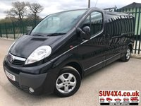 USED 2013 13 VAUXHALL VIVARO 2.0 2900 CDTI SPORTIVE SWB 1d 113 BHP AIR CON ALLOYS MOT 10/19 (COMMERCIAL 6400+1280VAT). STUNNING BLACK MET WITH GREY CLOTH TRIM. AIR CON. 16 INCH ALLOYS. COLOUR CODED TRIMS. R/CD PLAYER. BULKHEAD. PLY LINED. ROOF BARS. MOT 10/19. PICK-UP & VAN CENTRE - LS23 7FQ. TEL 01937 849492 OPTION 3.