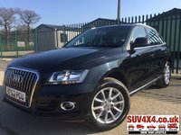 USED 2012 62 AUDI Q5 2.0 TDI QUATTRO SE 5d 175 BHP LEATHER FSH 4WD. STUNNING BLACK MET WITH FULL BLACK LEATHER TRIM. CRUISE CONTROL. 18 INCH ALLOYS. COLOUR CODED TRIMS. PARKING SENSORS. BLUETOOTH PREP. MULTI MEDIA SCREEN. CLIMATE CONTROL. TRIP COMPUTER. R/CD/MP3 PLAYER. 6 SPEED MANUAL. MFSW. MOT 11/19. FULL SERVICE HISTORY. PRESTIGE SUV CENTRE - LS24 8EJ. TEL 01937 849492 OPTION 1