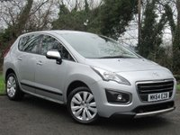 USED 2014 64 PEUGEOT 3008 1.6 HDI ACTIVE 5d  **ECONOMICAL**LOW MILEAGE**