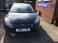 USED 2014 14 FORD FOCUS 1.6 ZETEC TDCI 5d 113 BHP ONLY £30 ROAD TAX
